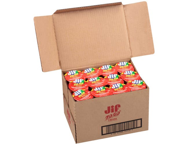 Jif To Go Creamy Peanut Butter, 1.5 Ounce -- 96 per case.