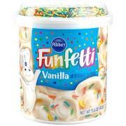 Pillsbury Funfetti Vanilla Frosting, 15.6 Ounce -- 8 per case