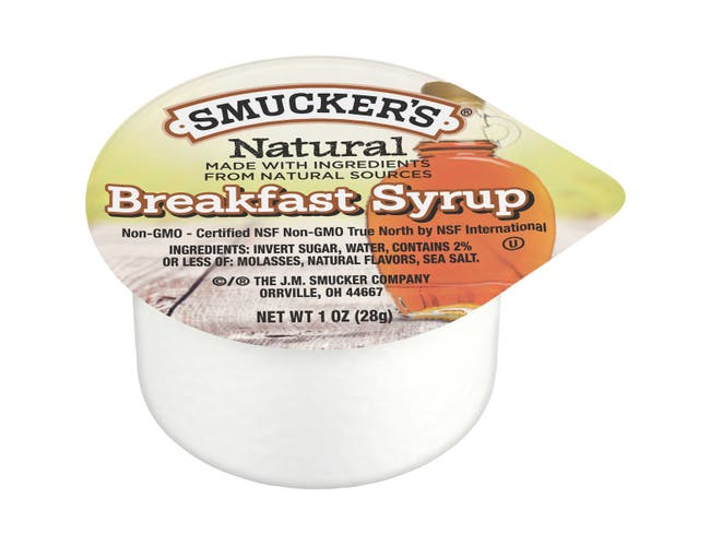 Smucker Natural Breakfast Syrup, 1 Ounce -- 100 per case.
