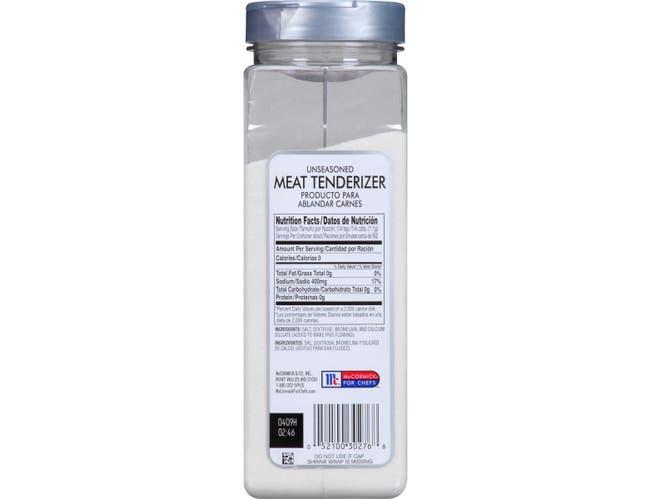 McCormick Culinary Unseasoned Meat Tenderizer, 35 oz. -- 6 per case