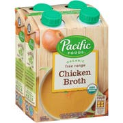 Pacific Organic Free Range Chicken Broth, 4 count per pack -- 6 per case.