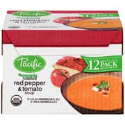 Pacific Foods Organic Creamy Roasted Red Pepper and Tomato Soup, 8 Ounce -- 12 per case.