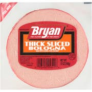 Bryan Thick Sliced Bologna Lunchmeat, 12 Ounce -- 16 per case.