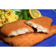 New Wave Kaptains Ketch Breaded Flounder Fillet, 4 to 5 Ounce -- 18 per case.