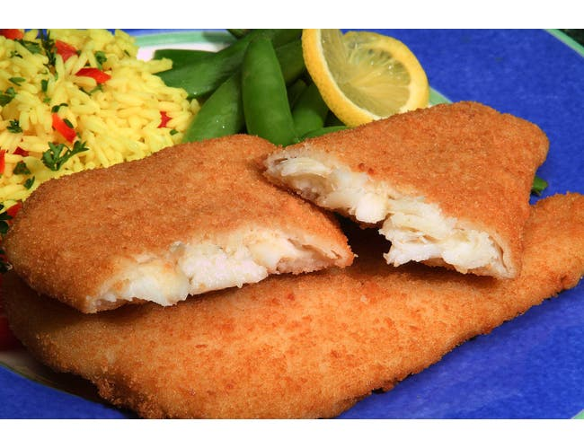 New Wave Kaptains Ketch Breaded Flounder Fillet, 4 to 5 Ounce -- 18 per case.