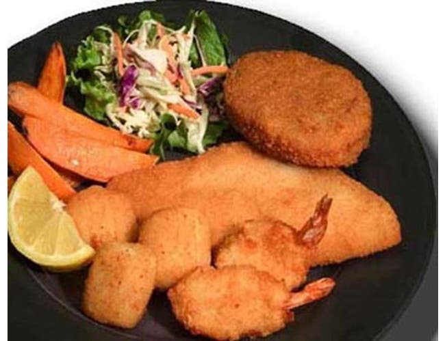 Kaptains Ketch Breaded Seafood Combination, 10 Ounce -- 8 per case.