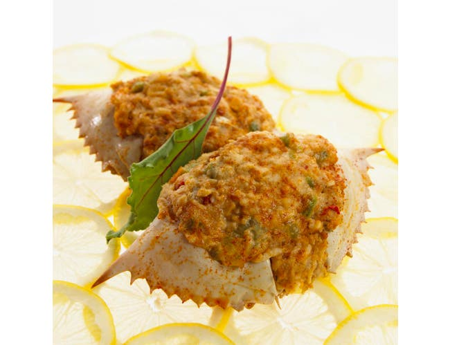 New Wave Kaptains Ketch Chesapeake Street Stuffed Crab in Natural Shell, 3 Ounce -- 20 per case.