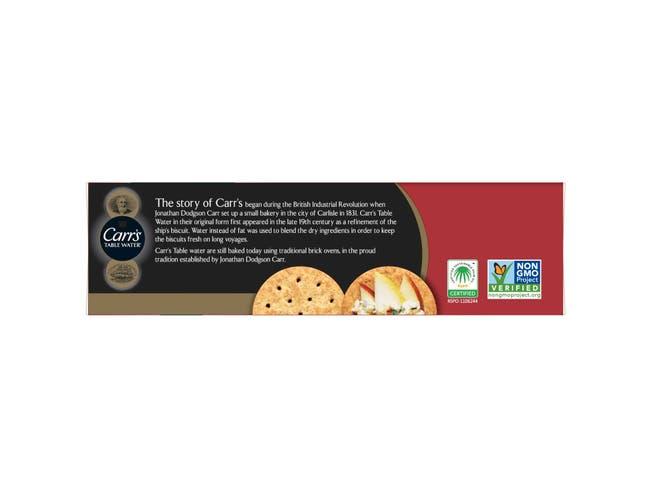 Cracker Keebler Carrs Whole Wheat 12 Case 7.05 Ounce