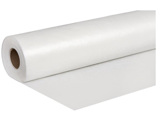 Lapaco White Paper and Polyester Banquet Roll, 54 inch x 150 Feet -- 1 each.
