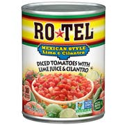 Ro Tel Mexican Lime and Cilantro Diced Tomatoes, 10 Ounce Can -- 12 per case