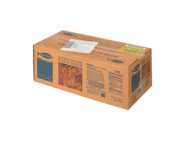 King and Prince Mrs.Fridays Butterfly Shrimp - 31/40, 6 Ounce -- 12 per case.