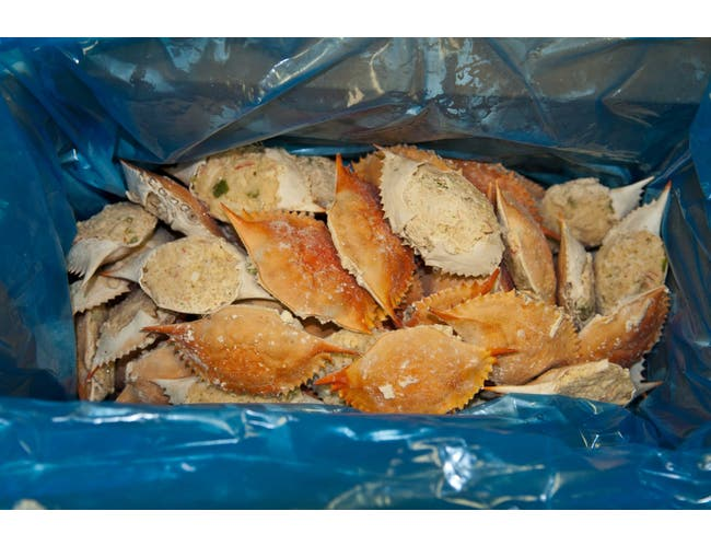 Singleton Seafood Crab Stuffed Natural Shell Surimi Crab Blend, 3 Ounce -- 6 per case.