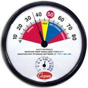 Cooper Atkins Bi Metal Dry Storage Prep Area Wall Thermometer -- 1 each.