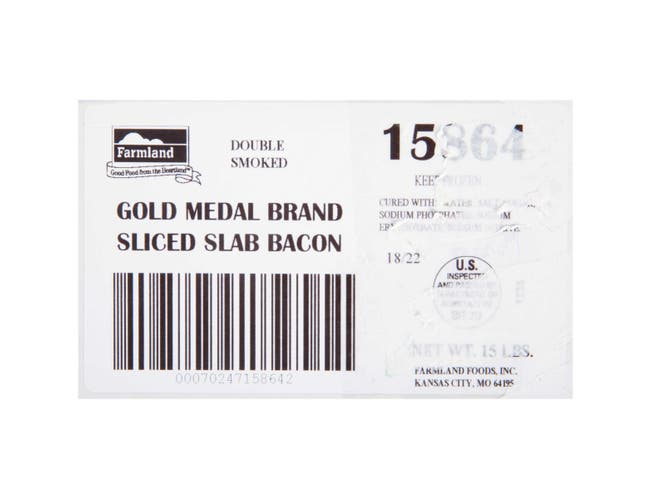 Farmland Gold Medal Double Smoked HRI Bacon, 18/22 Slice -- 1 each.