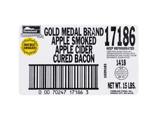 Apple Cider House Gold Medal Single Sliced Bacon - Gas Flushed, 14/18 Slice -- 1 each.