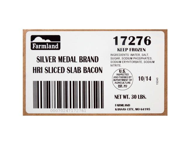 Farmland Silver Medal HRI Double Smoked Bacon, 10/14 Slice -- 1 each.