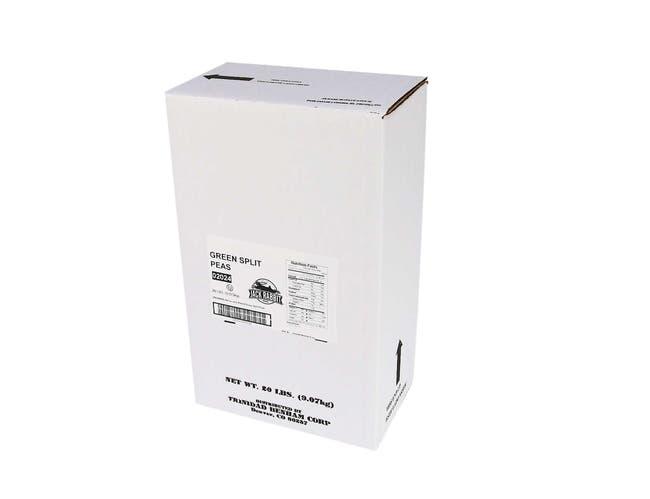 Jack Rabbit Green Split Peas - 20 lb. package, 1 package per case