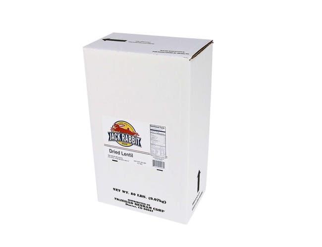 Jack Rabbit Lentils - 20 lb. package, 1 package per case