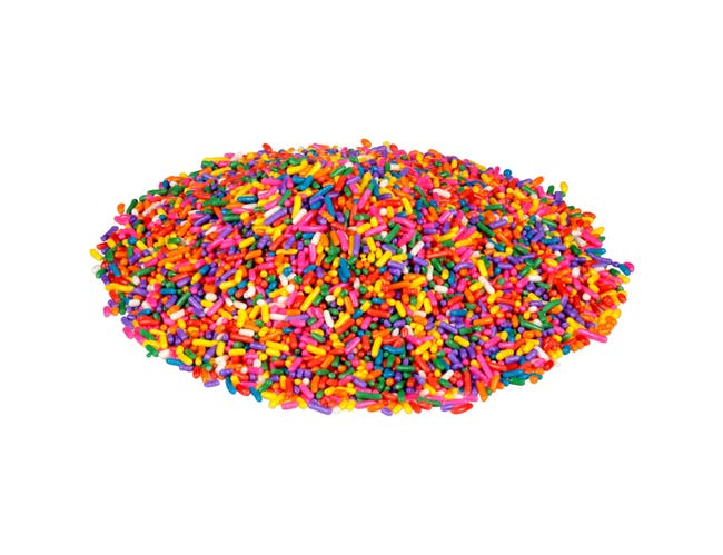 Fisher Rainbow Candy Sprinkles, 6 Pound -- 4 per case.