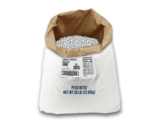 Jack Rabbit Small White Beans - 50 lb. package, 1 package per case