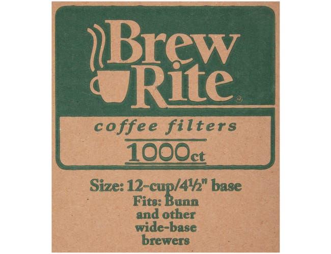 Generic 9.75 x 4.5 Breakfast Blend Coffee Filters -- 500 per case.