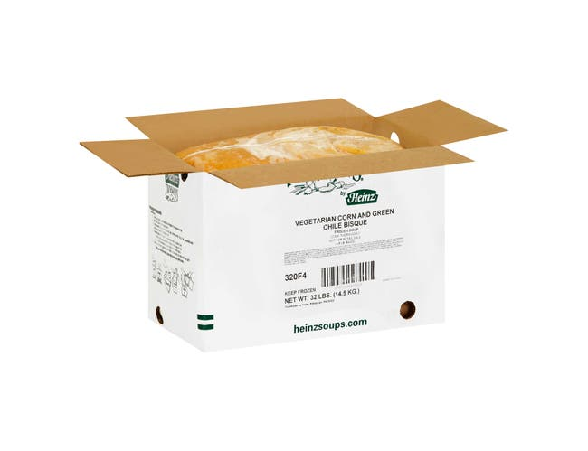 TrueSoups Corn and Green Chile Bisque - 8 lb. bag, 4 per case