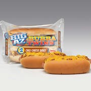 Advance Pierre Big Az Bubba Twins Chili Dog with Cheese, 8.5 Ounce -- 8 per case.