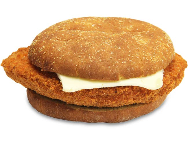 Advance Pierre Big Az Spicy Breaded Chicken Sandwich with Cheese, 9.2 Ounce -- 8 per case.