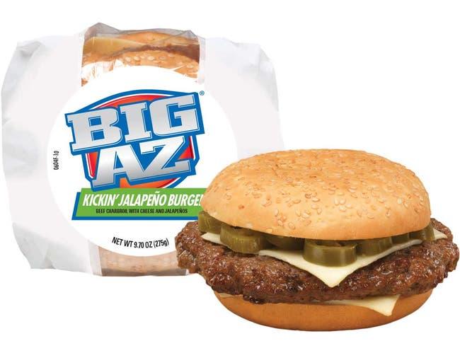 Big AZ Jalapeno Cheeseburger, 9.7 Ounce -- 10 per case.