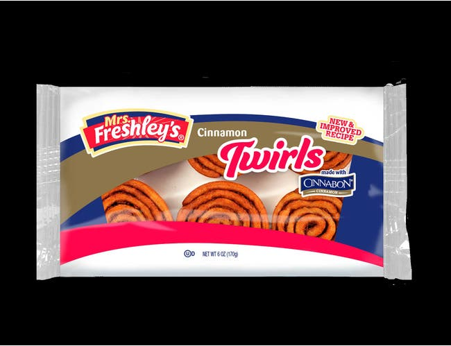 Mrs. Freshleys Cinnamon Twirls, 6 Ounce -- 24 per case.