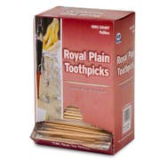 Royal Plain Individual Cello Wrapped Toothpick, 1000 count per pack -- 12 per case.