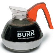 Bunn Easy Pour Black Coffee Decanter with Orange Handle -- 3 per case