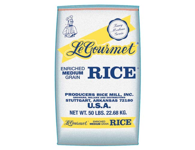 Producers Rice Le Gourmet Medium Grain Rice, Maximum Broken Content 4 Percent, 25 Pound -- 1 each.
