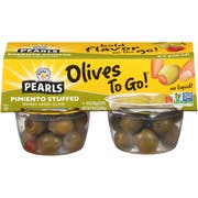 Pearls Pimento Stuffed Manzanilla Olives, 6.4 Ounce -- 6 per case.