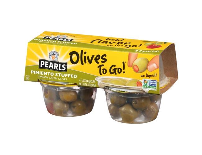 Pearls Pimento Stuffed Manzanilla Olives, 6.4 Ounce -- 6 per case.