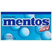 Mentos Chewy Mint - box of 15 rolls, 24 boxes per case