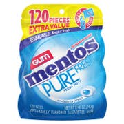 Mentos Pure Fresh Freshmint Gum, 120 count per pack -- 4 per case.