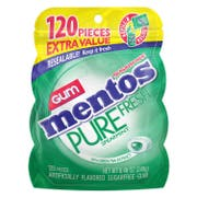 Mentos Pure Fresh Spearmint Gum, 120 count per pack -- 4 per case.