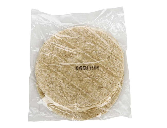 Mission Foods 10 inch Fry Ready Flour Tortilla, 12 count per pack -- 16 per case.