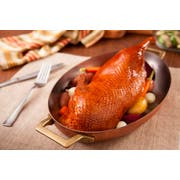 Maple Leaf Farms Partially Deboned Fully Cooked Gourmet Roasted Duck Halves, 2 count per pack -- 6 per case.
