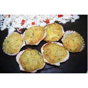 Miss Sallys Crab and Artichoke Stuffed in Natural Scallop Shell Appetizer, 2.11 Pound -- 2 per case.