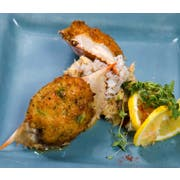 Miss Sallys 1.5 Ounce Raw Domestic Stuffed Blue Crab in Natural Shell, 2.25 Pound -- 6 per case.