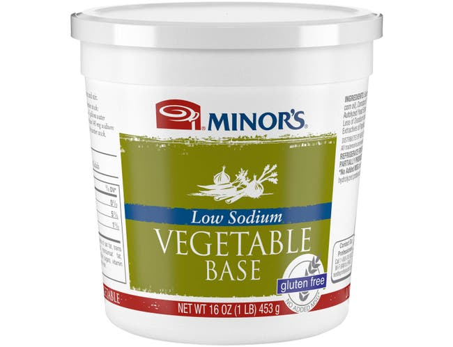 Nestle Minors Low Sodium No Added MSG Vegetable Base, 1 Pound -- 6 per case.