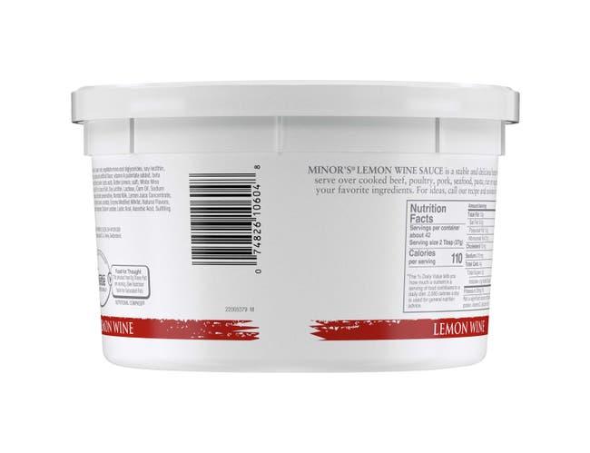 Nestle Minors Lemon Wine Sauce, 2.5 Pound -- 4 per case.