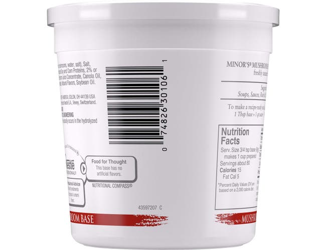 Nestle Minors No Added MSG Mushroom Base, 1 Pound -- 6 per case.