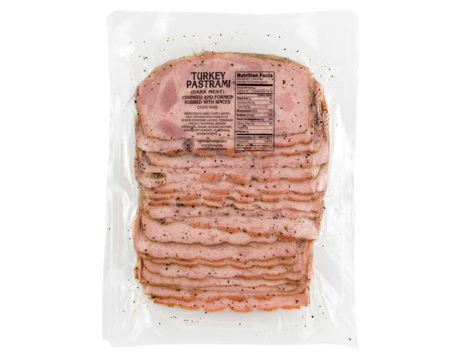 Foster Farms Sliced Turkey Pastrami, 20 Ounce -- 12 per case.