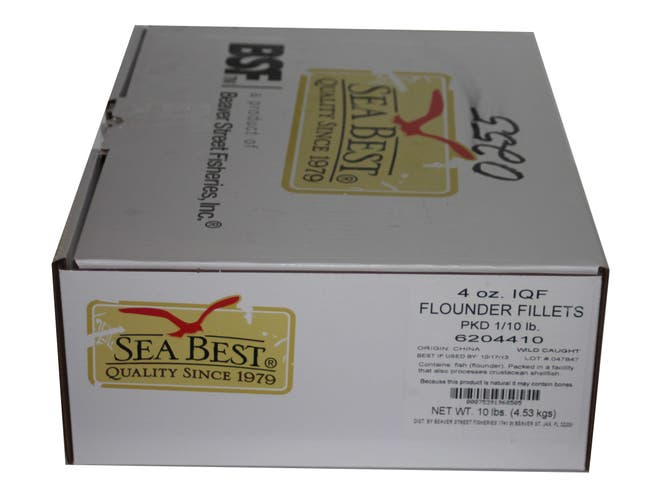 Sea Best Flounder Fillets, 4 Ounce  pieces -- 10 lbs per case