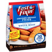 Fast Fixin Breaded Chicken Breast Fries, 20 Ounce -- 8 per case.