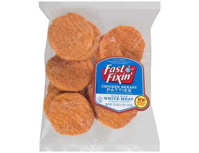 Fast Fixin Fully Cooked Breaded Chicken Breast Patties, 27.5 Ounce -- 5 per case.