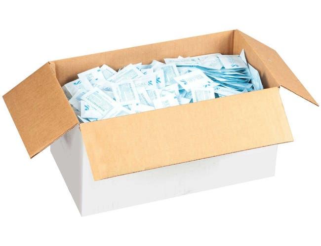 Domino Artificial Blue Sugar Packets, 1 Gram -- 2000 per case.